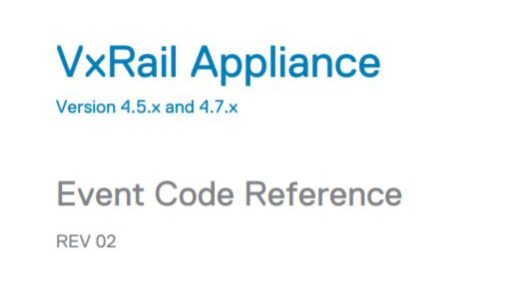 VxRail Event Code